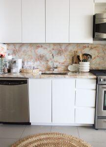 Blush Rental Kitchen Makeover for $30