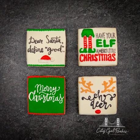 Christmas Phrase Cookies