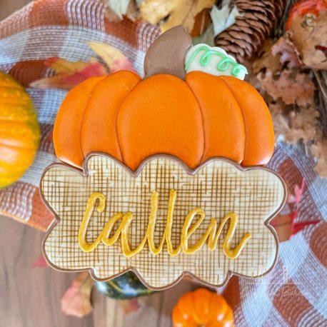 Pumpkin Nameplate