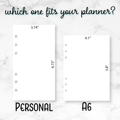 Which one fits? Personal or A6