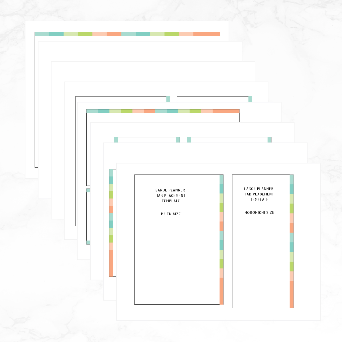 image relating to Printable Self Adhesive Tabs named Significant Planner Tab Position Template Printable - Instantaneous