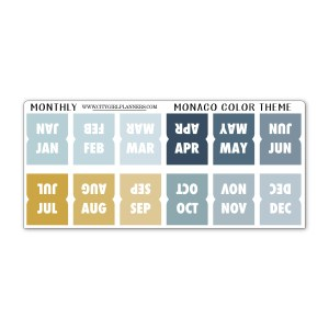 Mini Monaco Monthly Planner Tabs