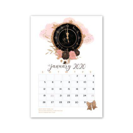 January 2020 Calendar Freebie