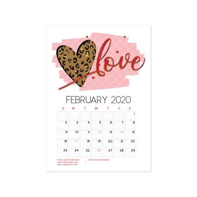 February 2020 Calendar Freebie!