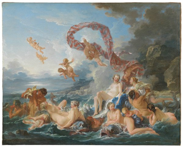 Franc?ois Boucher The Triumph of Venus