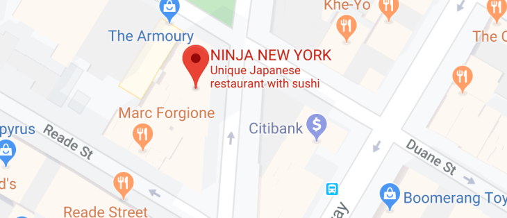 ninja new york japanese restaurant - location