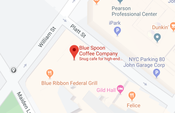blue spoon coffee company - located near william st and platt st.