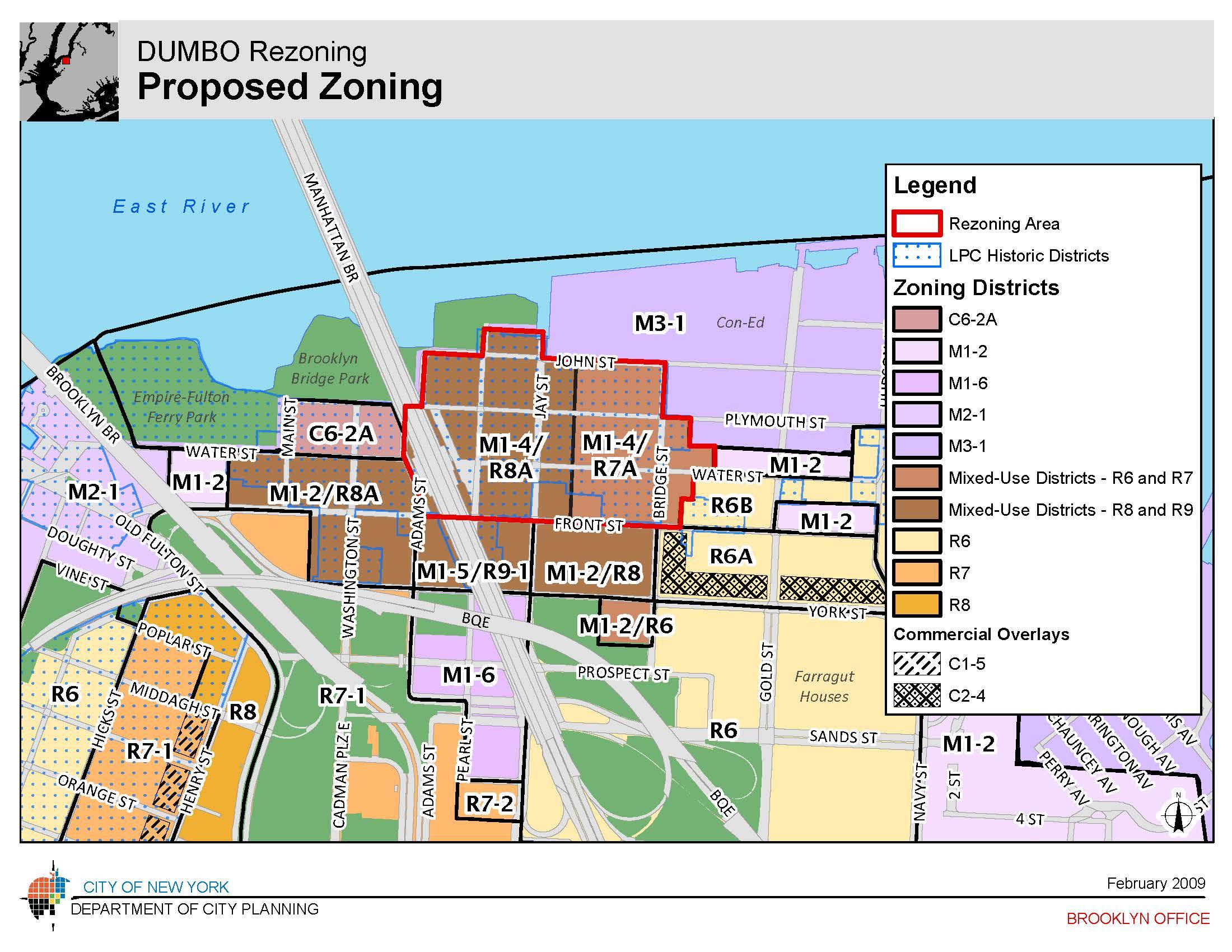 DUMBO Rezoning Archives CityLand CityLand - Nyc map zoning
