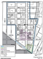 Map of proposed Special Hudson Square district. Subdistrict B was eliminated from the proposal. Image Courtesy: DCP..