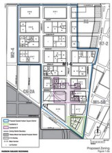 Map of proposed Special Hudson Square district. Subdistrict B was eliminated from the proposal.
