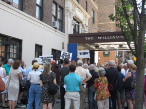 Coalition rallies to save the Williams Memorial Residence. Credit: CityLand