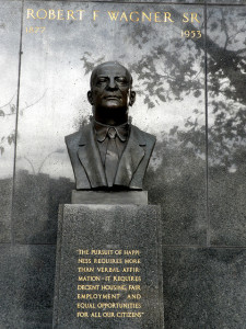 The Robert F. Wagner statute in East Harlem.  Image credit: Flickr