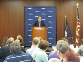 CPC Chairman Carl Weisbrod address record breaking CityLaw Breakfast attendees.  Image Credit: CityLand.