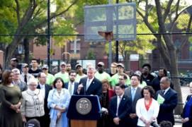 Mayor announces Community Parks Initiative. Image Credit: Mayor's Office.