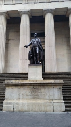 The statue of George Washington at Federal Hall, where he was inaugurated as America's first President.  Image credit:  CityLand