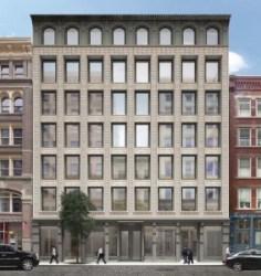 Rendering of 146-150 Wooster Street in Manhattan. Image Credit: KUB Capital.