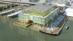Architect's rendering of the Pier 17 proposal. Image credit: SHoP Architects