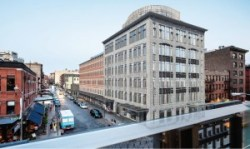 Rendering of proposed development as it would appear when viewed from Whitney Museum. Image credit: BKSK Architects