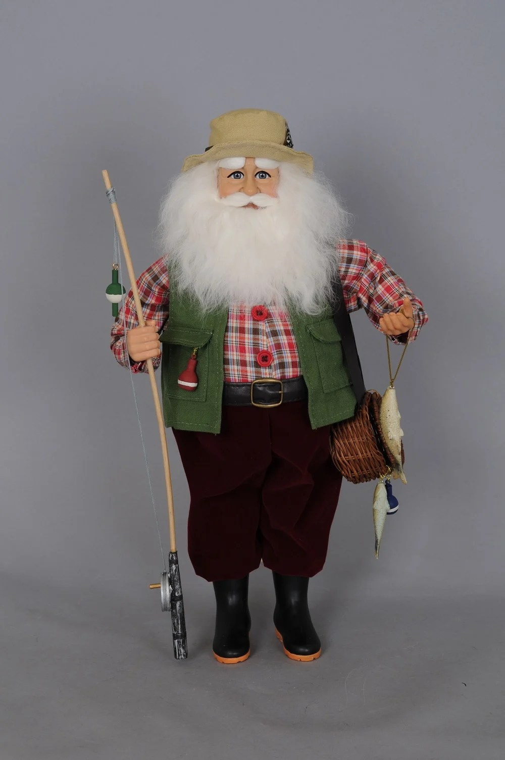 KAREN DIDION ORIGINALS CC16150 Fishing Santa