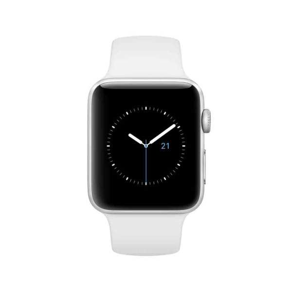 Apple Watch Series 1 Silver Aluminum Case With White Sport