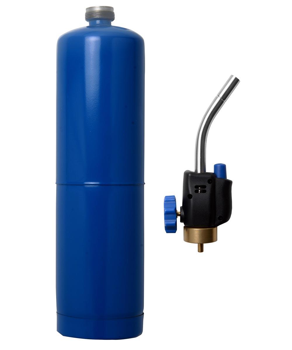 self lighting propane torch head cylinder kit