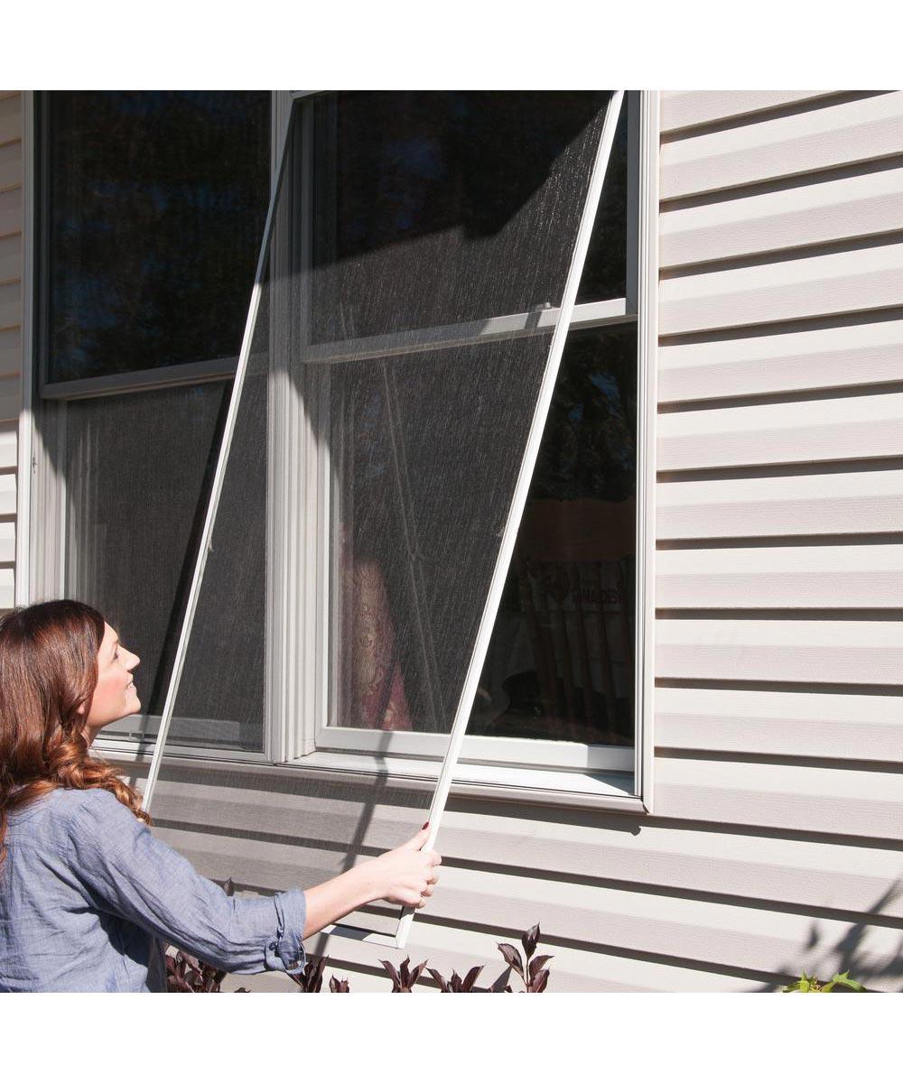 adfors 36 in x 84 in aluminum window screen bright