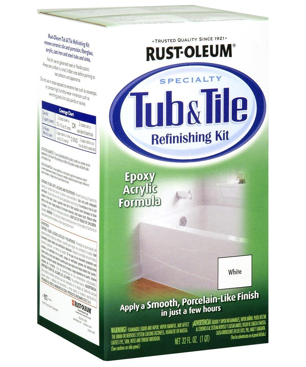 specialty tub tile refinishing kit kit white