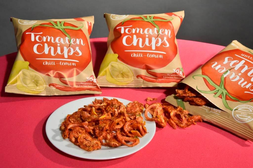 Tomatenchips mit der Geschmacksrichtung: chili & lemon und mit einem Spitzer Zitrone © Koelnmesse GmbH, Thomas Klerx