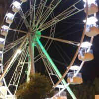 Reggio, prove di illuminazione della ruota panoramica - FOTO