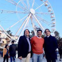 Inaugurazione ruota panoramica, Falcomatà e Latella: