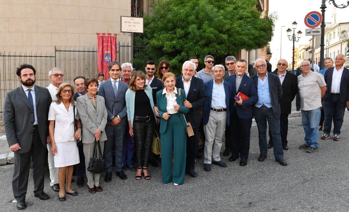 Reggio, intitolato il nuovo largo 'Antonio Cordova' - FOTO