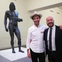 Reggio, Mika in visita al Museo Archeologico