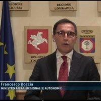 Ordinanza Santelli, Boccia: 'Corsa in avanti della Calabria non aiuta nessuno. A breve la diffida'