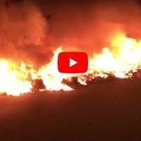 Reggio, notte di fuoco in città. Discariche date alle fiamme