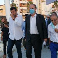 Salvini a Reggio: 'Se queste sono le competenze di Falcomatà, il voto sarà scontato'