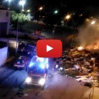 Reggio, ancora un incendio tra i rifiuti di via Ciccarello