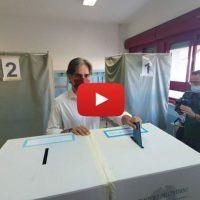 Comunali 2020: il voto del sindaco uscente Falcomatà