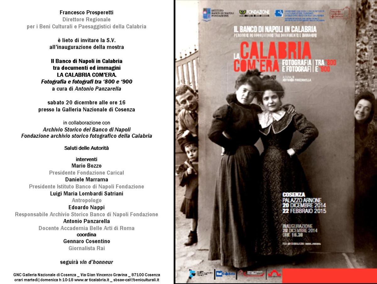 Fotografi A Reggio Calabria mostra ''la calabria com'era'': fotografia e fotografi tra