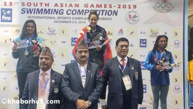 Photo of 13th SAG: Nepal's Gaurika wins first gold medal in swimming