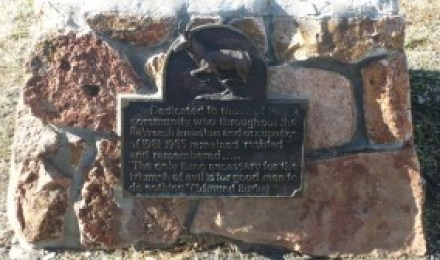 Plaque commemorating resistance