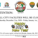 City Closed for New Years Eve and New Years Day