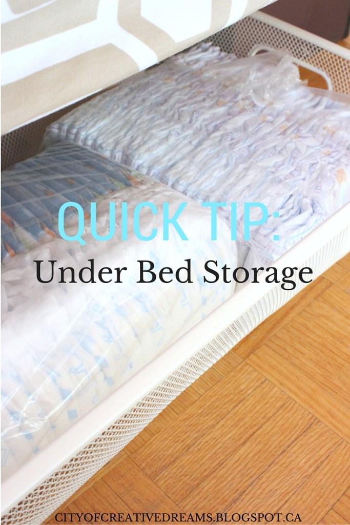 under the bed storage tip