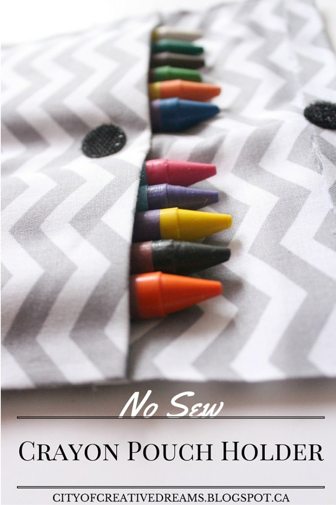 no sew crayon pouch holder