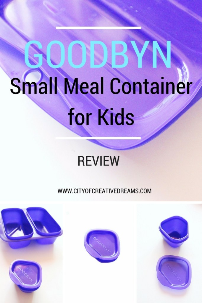 Goodbyn Small Meal Container for Kids Review   City of Creative Dreams