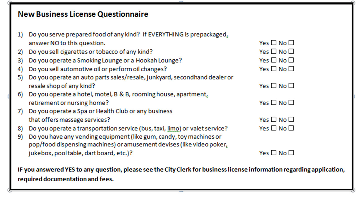 Business and Contractor Licensing