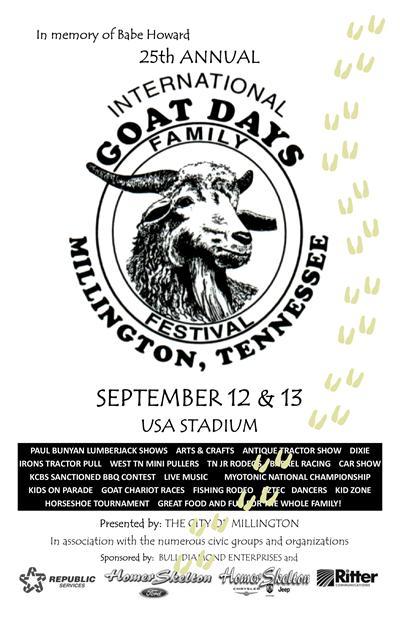 26th Annual International Goat Days Festival Sept. 11-12