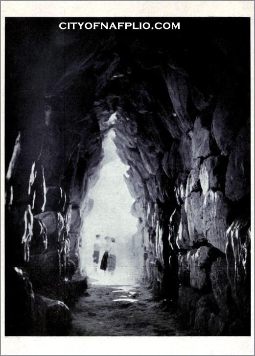 underground store chamber at tiryns