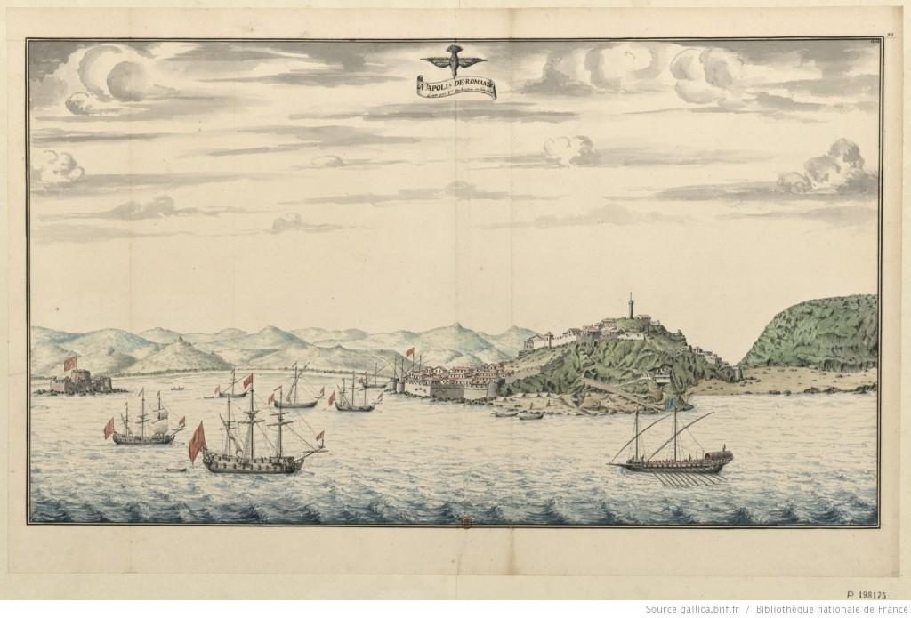 Napoli de Romania [dessin] levé par François Dubuisson, en l'an 1698