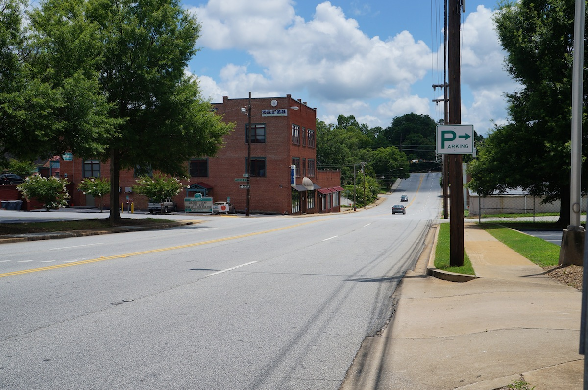 City of Spartanburg South Carolina  Pondering Three Downtown Streetscaping Possibilities