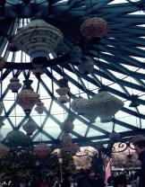 decor on the teacup ride